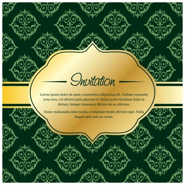 Etiqueta dorada en una invitación de boda lujosa | Descargar ...