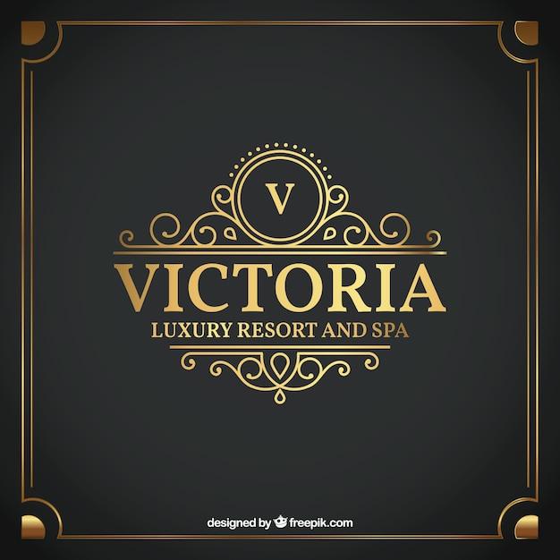 Etiqueta de hotel de lujo vector gratuito