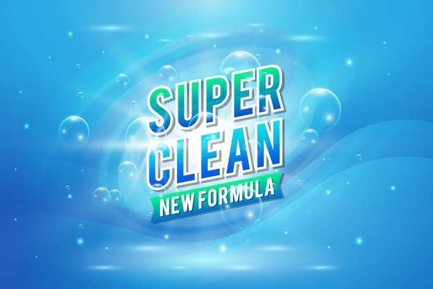 Etiqueta limpiadora viricida y bactericida vector gratuito