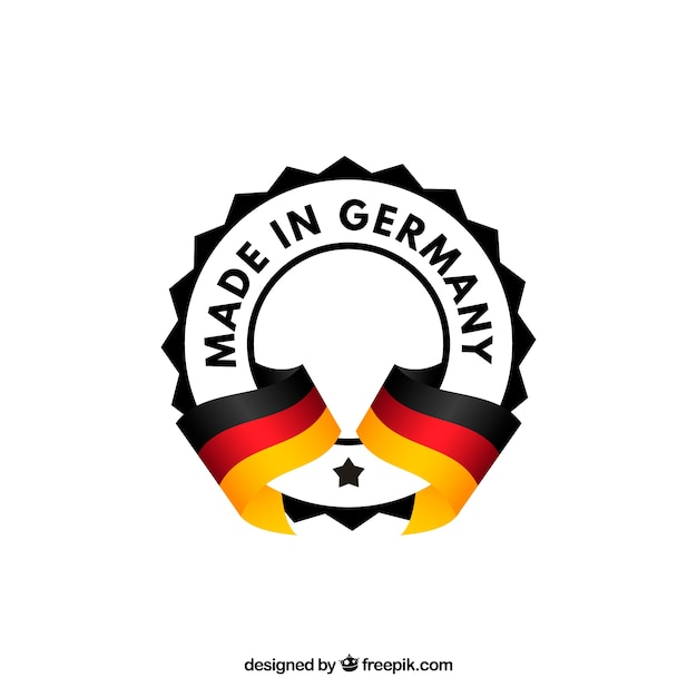 Etiqueta de made in germany Vector Premium