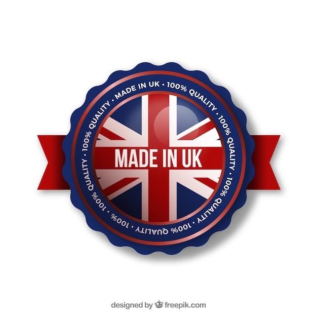 Etiqueta de made in uk vector gratuito