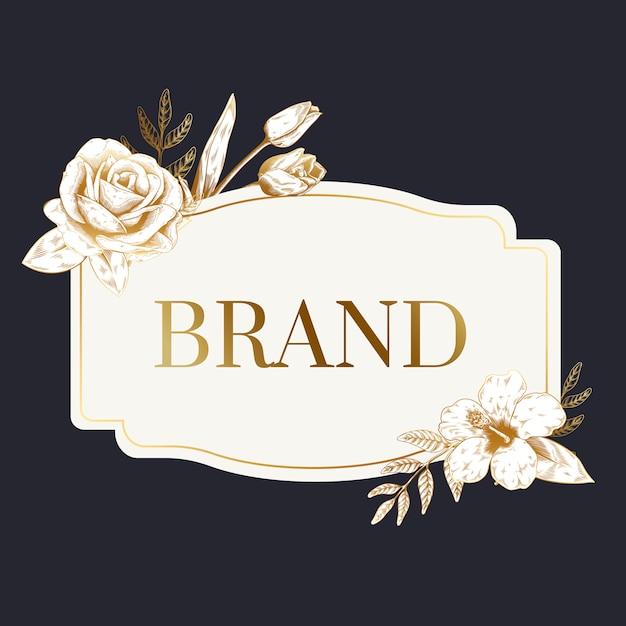 Etiqueta de marca romántica vector gratuito