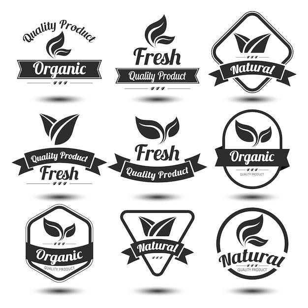 Etiqueta de naturaleza Vector Premium