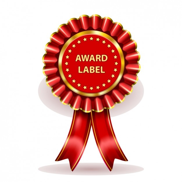 Etiqueta premio red | Descargar Vectores gratis