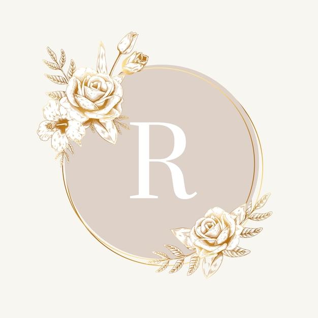 Etiqueta Redonda De Flores Vector Gratis