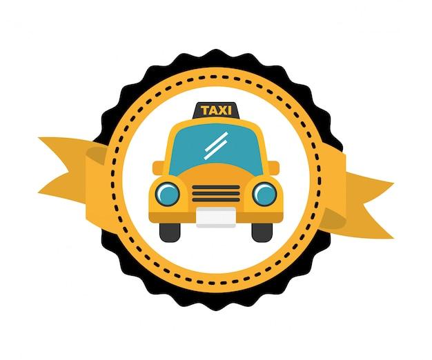 Etiqueta de servicio de taxi vector gratuito