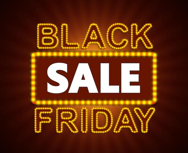 Etiqueta de venta de viernes negro, adhesivo y cupón. Vector Premium