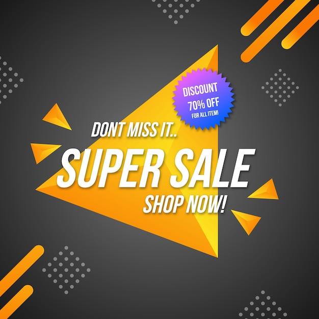 Etiqueta de ventas con fondo abstracto colorido vector gratuito