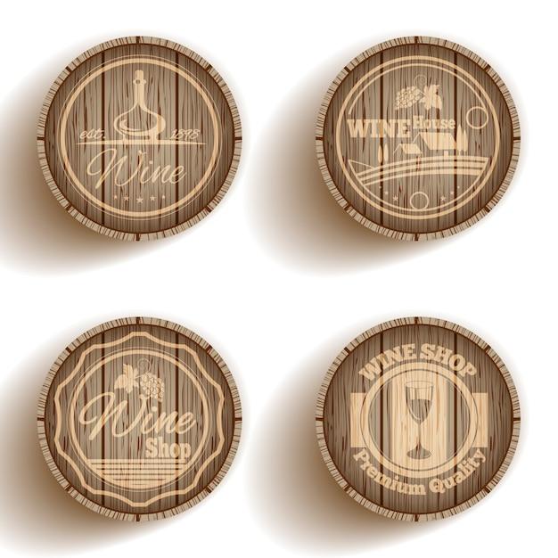 Etiqueta de vino barril vector gratuito