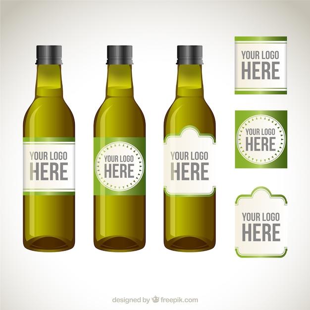 Etiquetas De Botellas De Aceite De Oliva Descargar