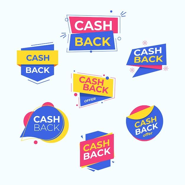 Etiquetas de devolución de dinero con oferta especial vector gratuito