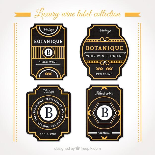 Etiquetas Elegantes Para Botellas Con Detalles En Naranja