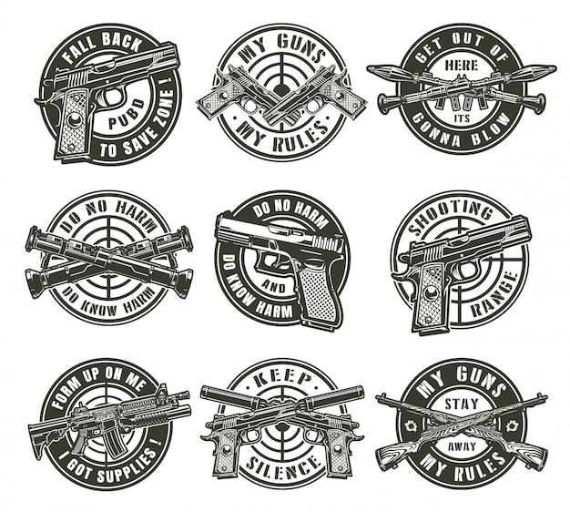 Etiquetas militares vintage vector gratuito