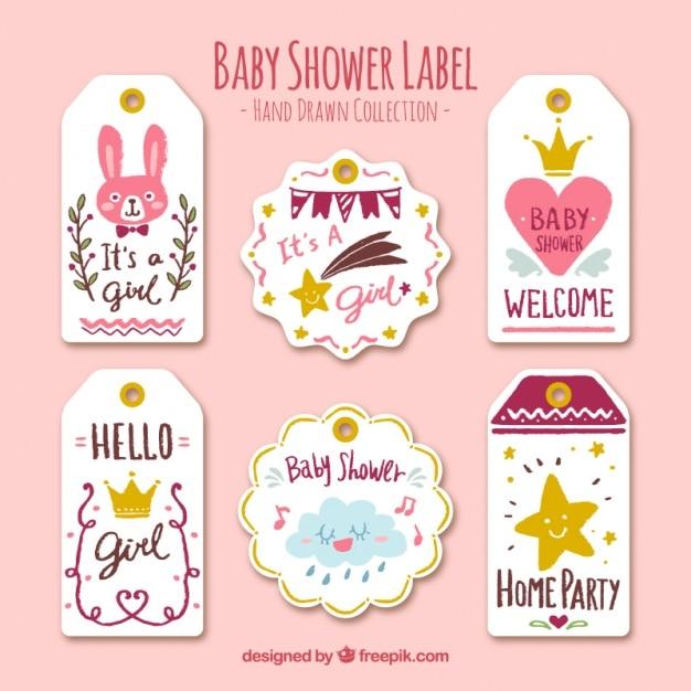 Etiquetas para bebés con objetos bonitos | Descargar