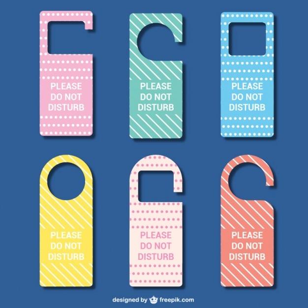 Etiquetas para puertas de hotel descargar vectores gratis - Carteles para puertas habitaciones ...
