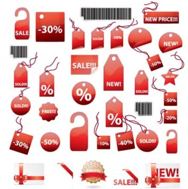 etiquetas pegatinas de compras Vector Gratis