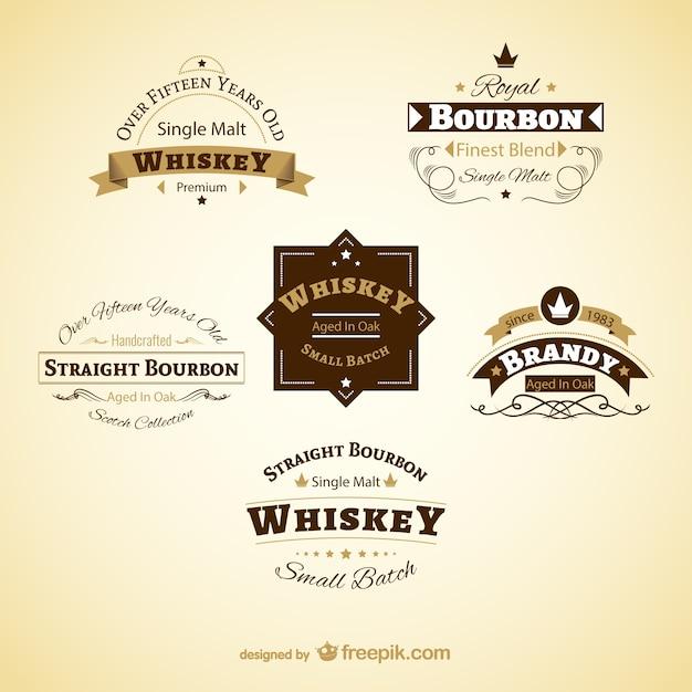 Etiquetas vintage de bebidas Vector Premium