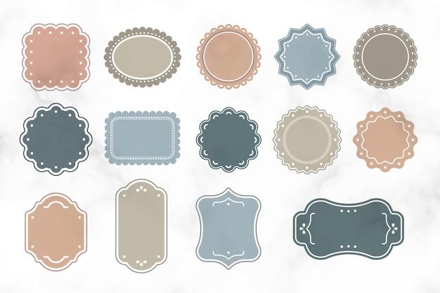 Etiquetas vintage en blanco vector gratuito