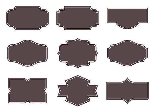 Etiquetas vintage conjunto de marcos retro. Vector Premium