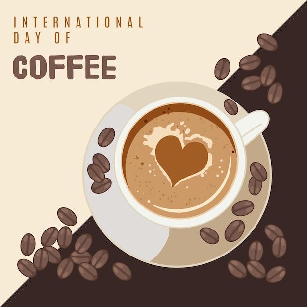 Evento del día internacional del café vector gratuito