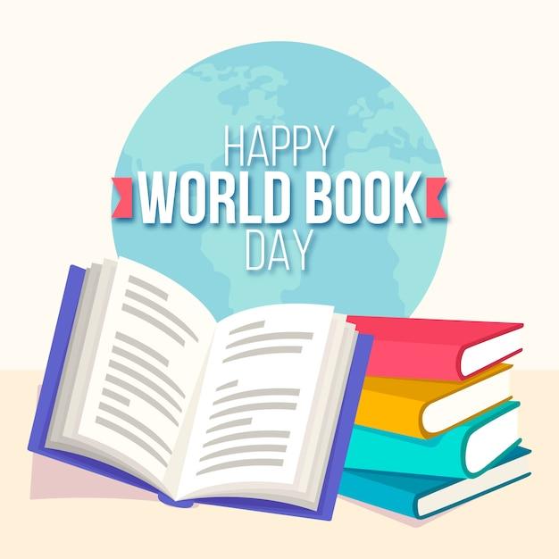Evento del día mundial del libro Vector Premium