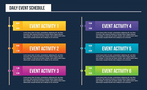 Evento diario en blanco Vector Premium