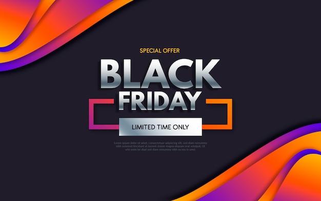 Evento de viernes negro en fondo de estilo degradado vector gratuito