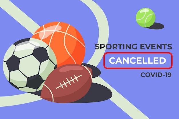 Eventos deportivos cancelados - antecedentes vector gratuito