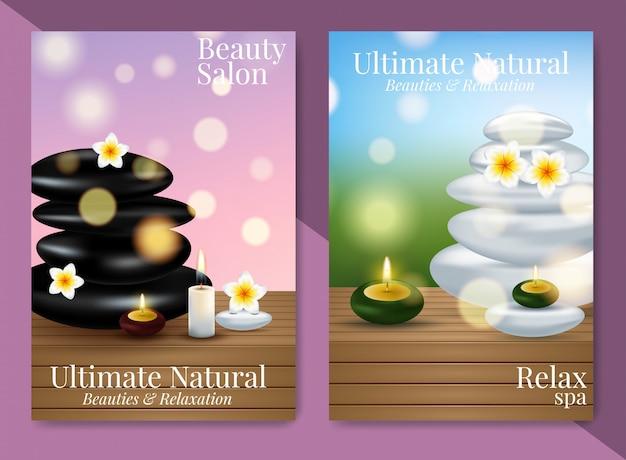 Excelentes anuncios cosméticos, crema facial y crema de manos. Vector Premium
