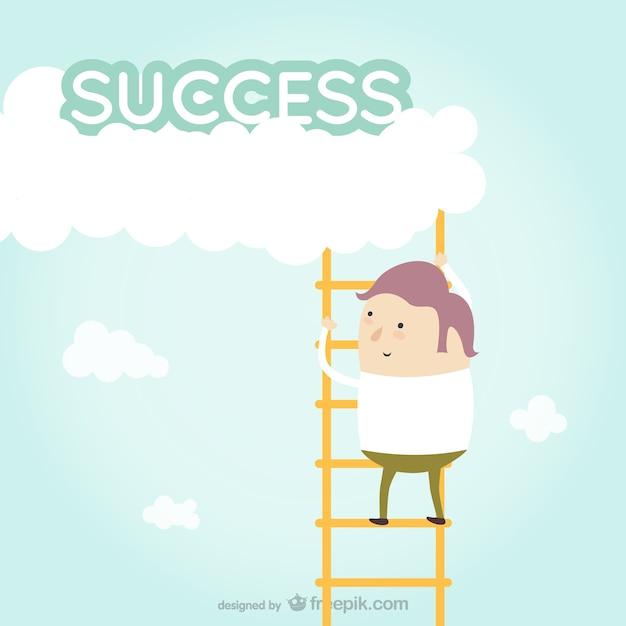 Éxito motivador vector Vector Gratis