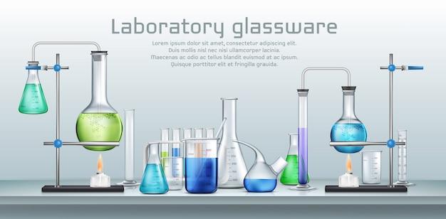Experimento de laboratorio quimico vector gratuito