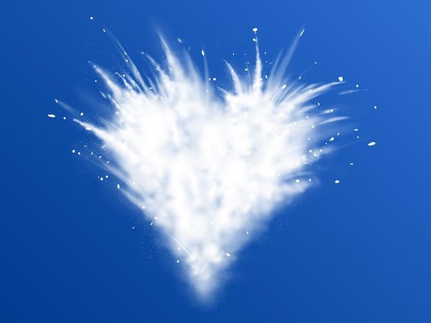 Explosión blanca de nieve en polvo vector gratuito