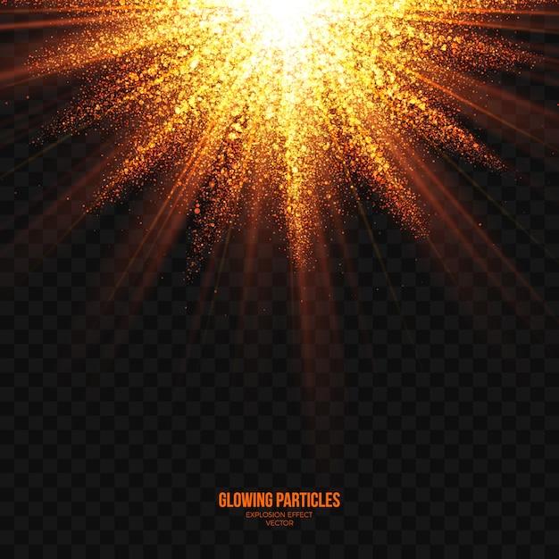 Explosión brillante abstracto vector transparente efecto Vector Premium