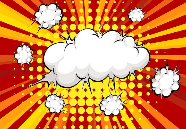 Explosión de nubes vector gratuito