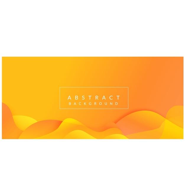 El extracto gradiente forma el diseño amarillo moderno del fondo del vector Vector Premium