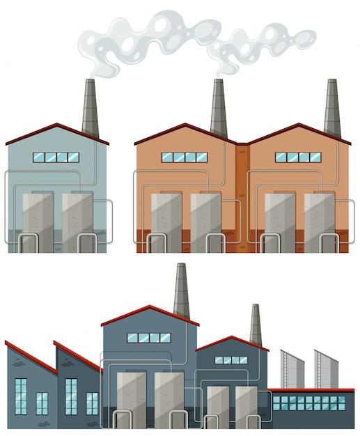 F brica de edificios con chimeneas ilustraci n descargar for Fabrica de chimeneas