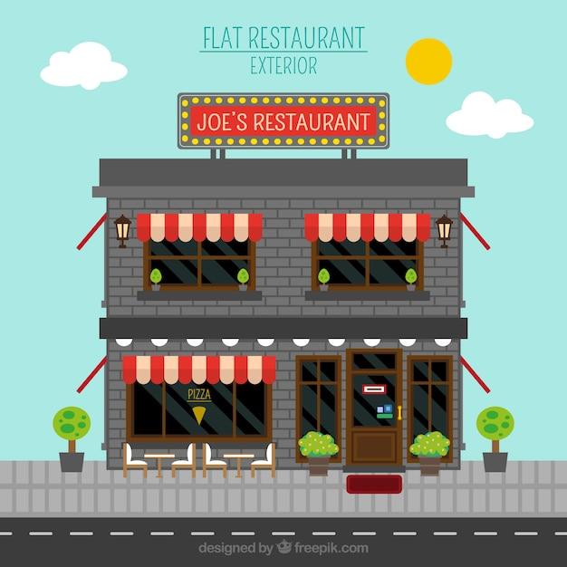 Italiano puerto fotos y vectores gratis for Fachada para restaurante