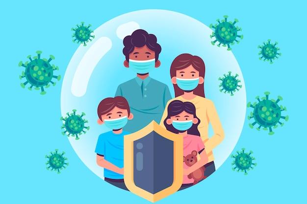 Familia protegida del virus vector gratuito