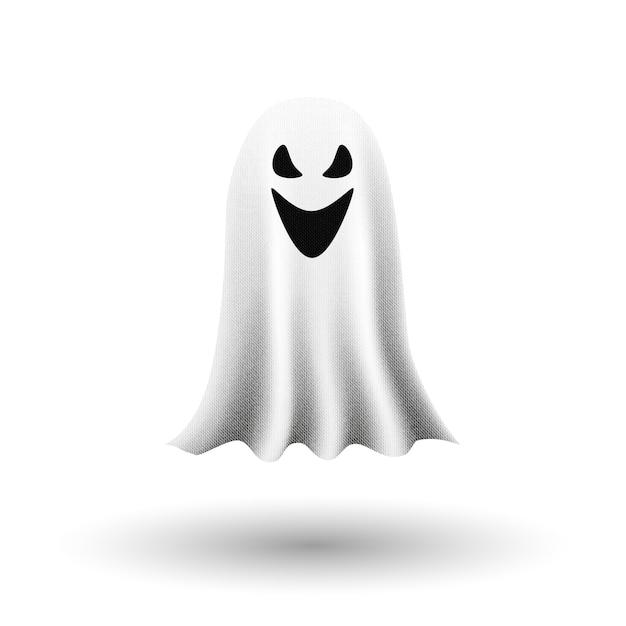 Fantasma en el fondo blanco. Vector Premium