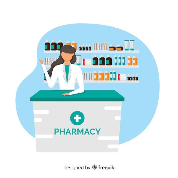 Farmacéutica vector gratuito