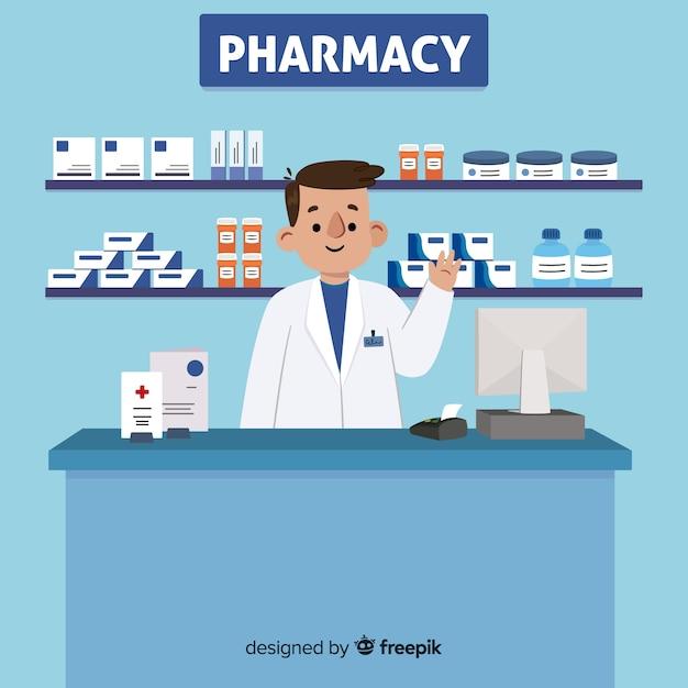 Farmacéutico vector gratuito