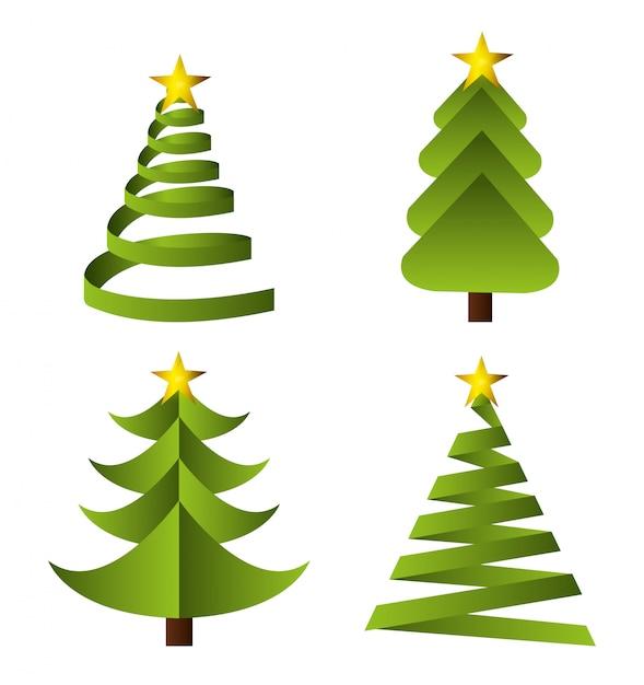 Felices fiestas diseño de navidad vector gratuito