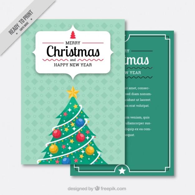 Felicitaci n de rbol de navidad en dise o vintage - Arbol navidad diseno ...