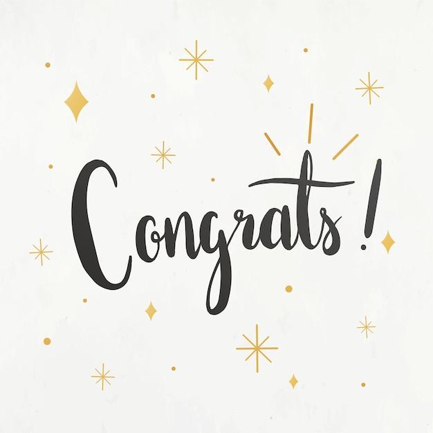 Felicitaciones tarjeta de felicitación vector gratuito