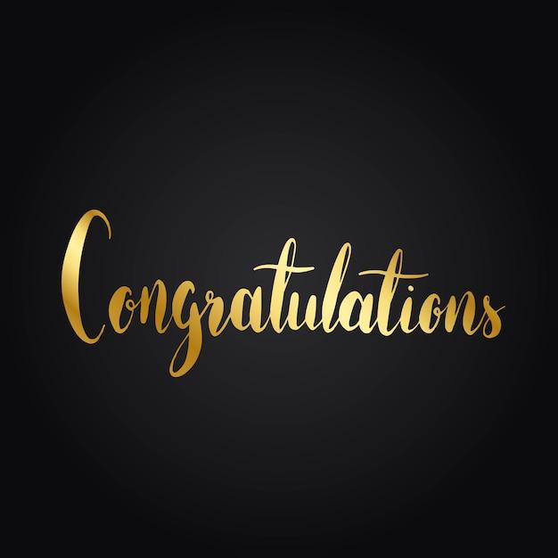 Felicitaciones tipografía redacción estilo vector vector gratuito