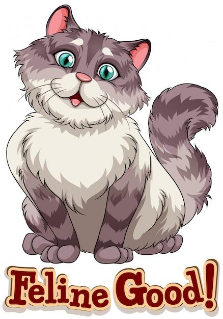 Felino vector gratuito
