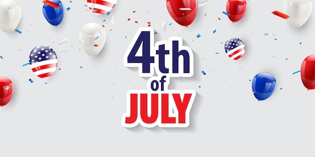 Feliz 4 de julio de vacaciones. Vector Premium