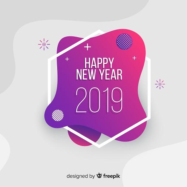 Feliz año nuevo 2019 vector gratuito