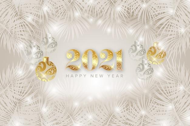 Feliz año nuevo 2021 fondo Vector Premium