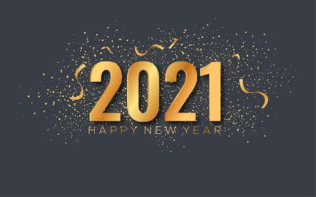 Feliz año nuevo 2021 Vector Premium